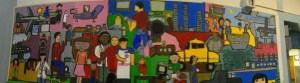 Mural in PS 120 School Auditorium Painted by Students at PS 120 Flushing, NY